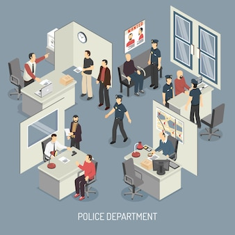 Skład izometryczny departamentu policji