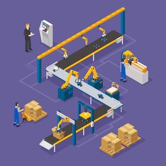 Skład izometryczny fabryki