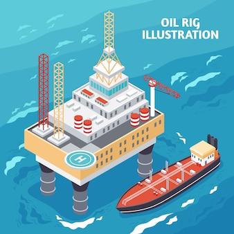 Skład izometryczny przemysłu naftowego