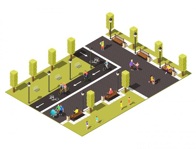 Skład izometryczny rowerów