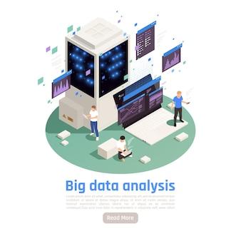 Skład izometryczny usługi big data z architekturą obliczeniową i pamięciową gromadzącą zarządzanie analityką w czasie rzeczywistym