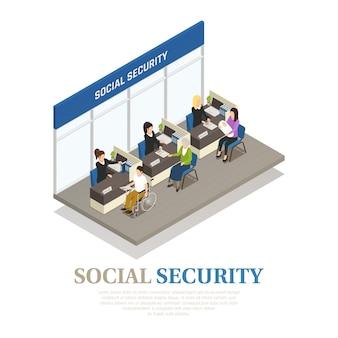 Skład izometryczny zabezpieczenia społecznego
