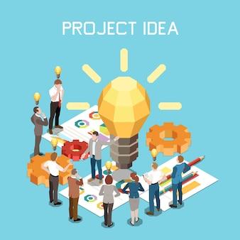 Skład izometryczny zarządzania projektem