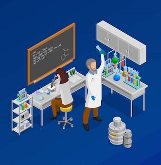 Skład koncepcji izometryczny naukowiec