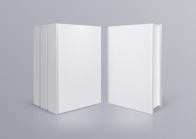 Skład książki z realistyczną książką bez tytułu z przodu