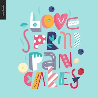 Skład literowy naleśniki love spring