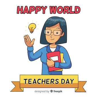 Skład nauczycieli na cały świat nauczyciela