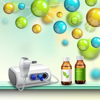 Skład poprawy zdrowia w cząsteczkach