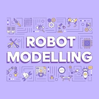 Skład słowa modelowania robotów.