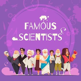 Skład słynnych naukowców
