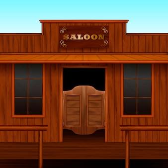 Skład wstępu do saloonu zachodniego