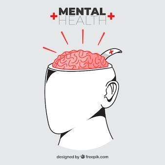 Skład zdrowia psychicznego o płaskiej konstrukcji