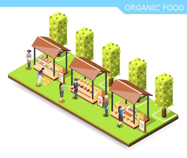 Skład żywności ekologicznej na rynku rolnym