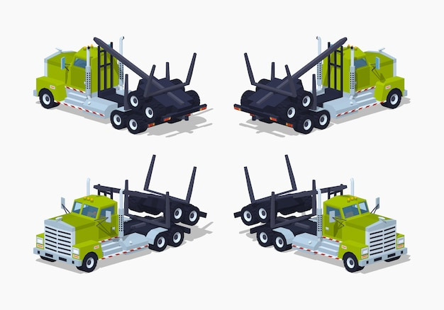 Składana trójwymiarowa ciężarówka z izometrycznym logiem