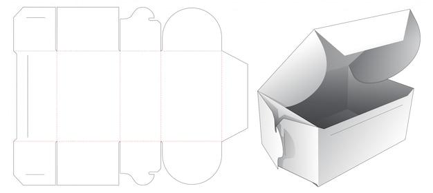 Składane pudełko ciasto wycinane szablon projektu