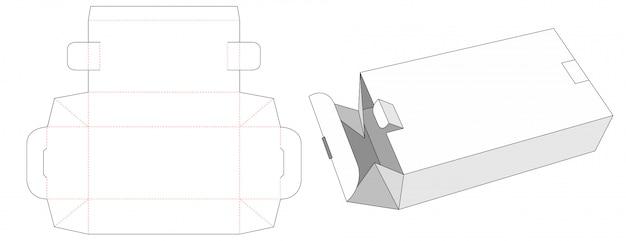 Składane pudełko z 2 zamkami wycinanymi szablonami