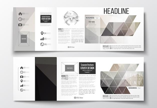 Składanie broszur, szablony z kwadratowymi wzorami