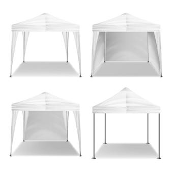 Składany namiot na zewnątrz pawilonu