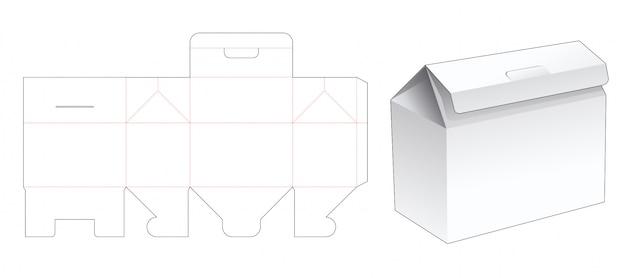 Składany szablon opakowania w kształcie domu