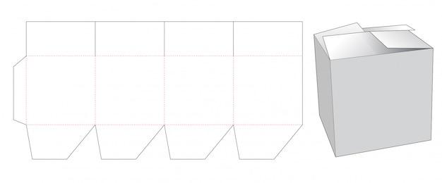 Składany szablon wycinany pudełko