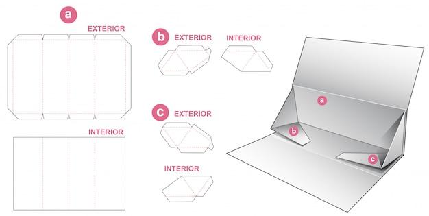 Składany, sztywny, trójkątny szablon wycinany matrycowo