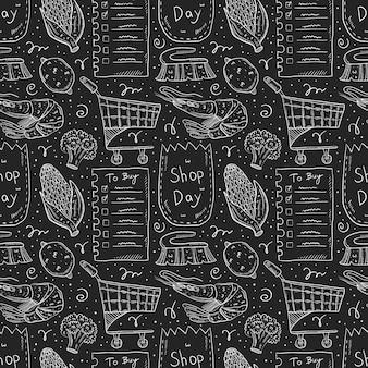 Sklep dzień doodle wzór