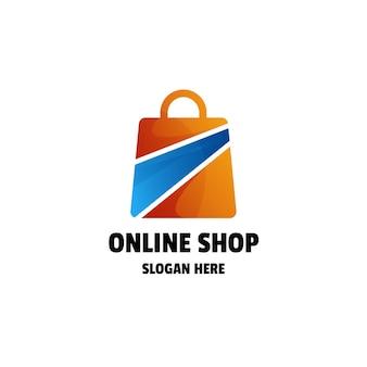 Sklep Internetowy Gradient Kolorowy Szablon Logo Premium Wektorów