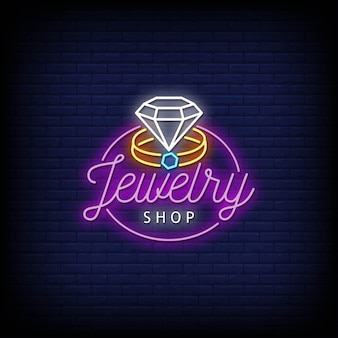 Sklep jubilerski logo neony