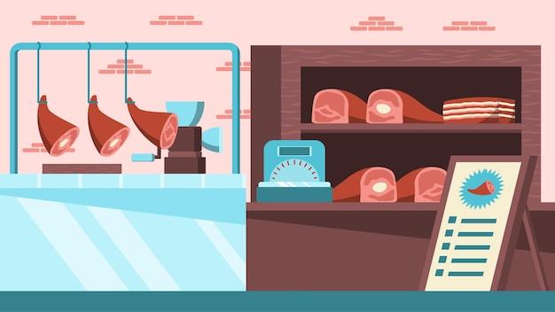 Sklep mięsny - sceny wewnętrzne
