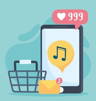 Sklep muzyczny na smartfony i poczta e-mail komunikacja i technologie w sieciach społecznościowych