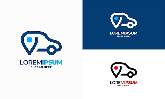 Sklep samochodowy logo szablon projekt wektor, samochód punkt wyszukiwarka logo szablon projektu wektor