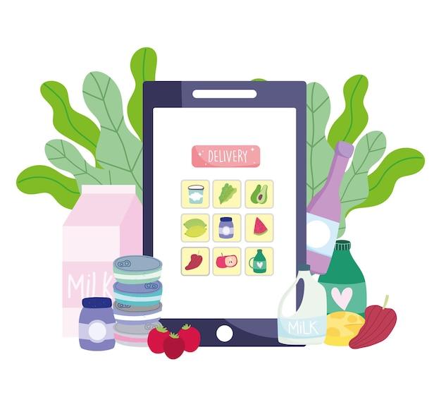 Sklep spożywczy online na smartfonie