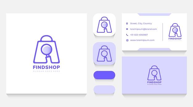 Sklep wyszukiwanie logo szablon i wizytówka