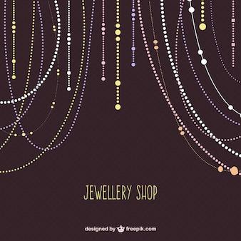 Sklep z biżuterią wektor