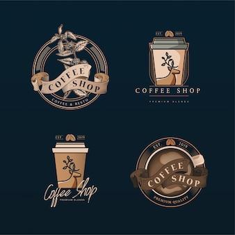 Sklep z kawą z logo