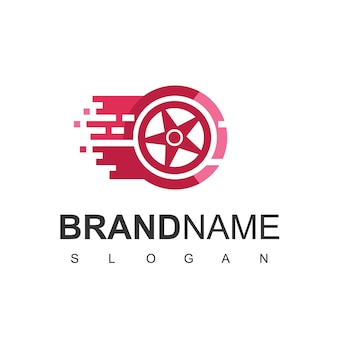 Sklep z oponami logo design vector