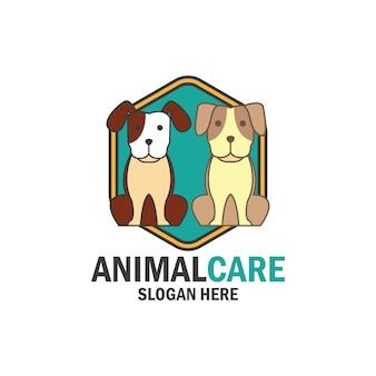 Sklep zoologiczny, pielęgnacja zwierząt domowych, ikona kochanka dla zwierząt domowych z miejscem na tekst w twoim sloganie