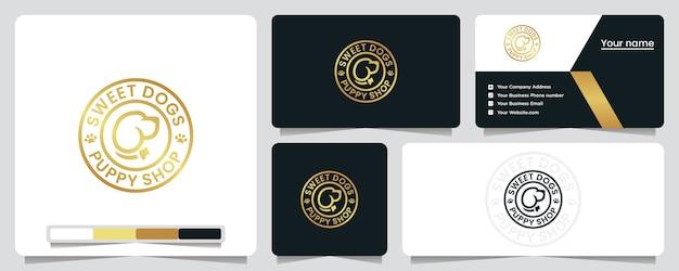 Sklep zoologiczny, złote, psy, inspiracja projektowaniem logo