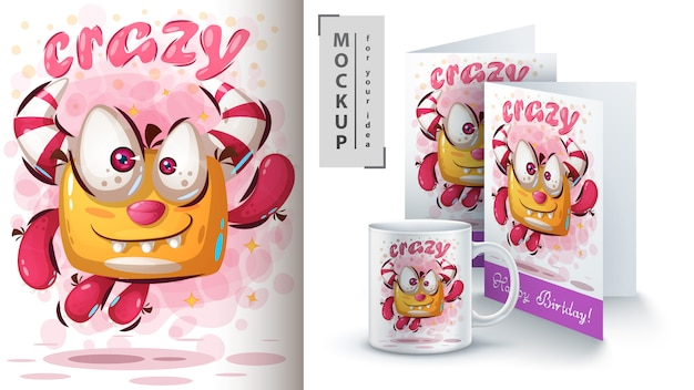 Skocz cute monsterposter i merchandising