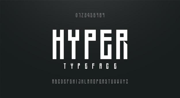 Skondensowany wysoki, wysoki prosty alfabet czcionek