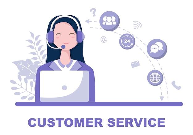 Skontaktuj się z nami ilustracja obsługi klienta