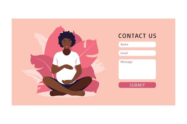Skontaktuj się z nami szablon jogi dla kobiety w ciąży