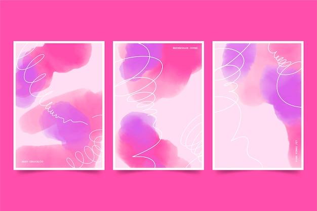 Skopiuj miejsca gradientowe różowe akwarele okładki