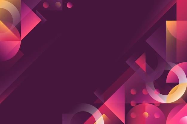 Skopiuj miejsce nowoczesne gradientowe tło geometryczne