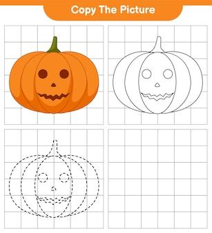 Skopiuj obrazek, ślad i kolor, gra edukacyjna dla dzieci, arkusz do druku, ilustracja