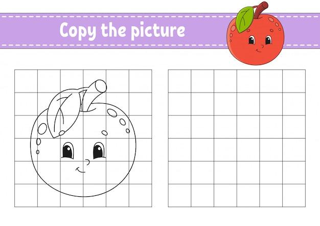 Skopiuj zdjęcie. kolorowanki dla dzieci.
