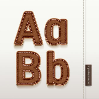 Skóra alfabet tekstury skóry.