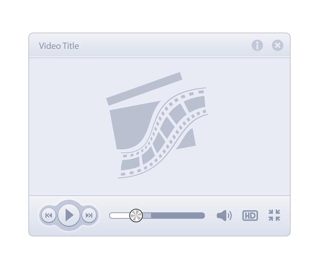Skóra odtwarzacza wideo na białym tle