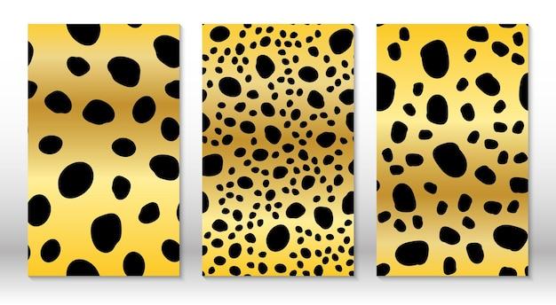 Skóra zwierzęca wzór lamparta wzór geparda okładki szablon projektu wzór lamparta.