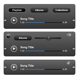 Skórka odtwarzacza audio z przyciskiem odtwarzania.